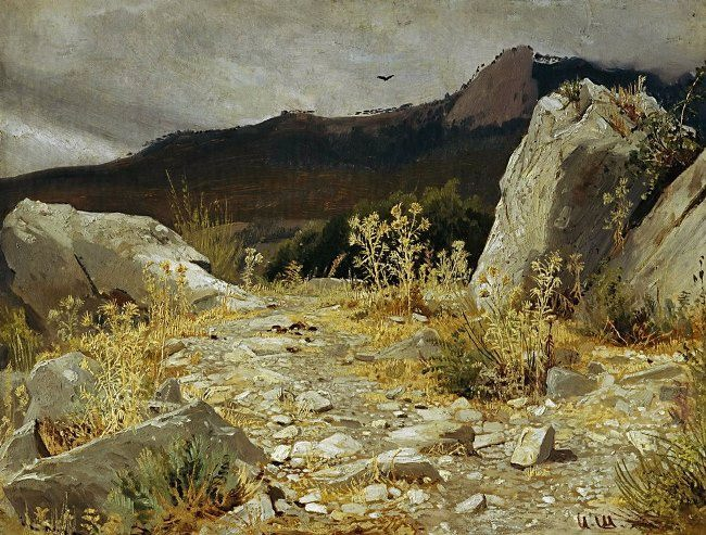 Mountain path. Crimea. Ivan Shishkin, 1879
