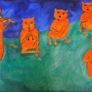 Music of cats. Original - Henri Matisse, Music