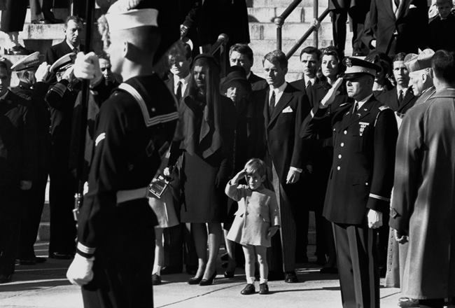 November 25, 1963. The funeral of President John F. Kennedy and the birthday of his son. In the photo, John Kennedy Jr. salutes his father's coffin