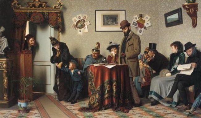 Pietro Saltini. The waiting room