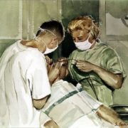 Salvatore Indiviglia. Dental assistant. watercolor, 1961