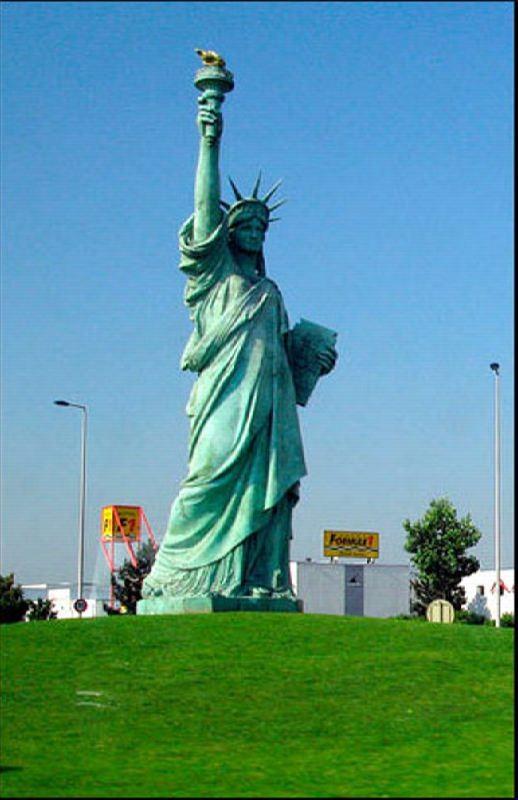Statue of Liberty in Colmar, Alsace