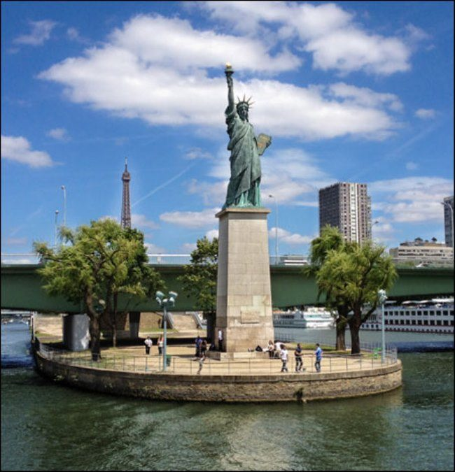 Statue of Liberty on the Swan Island in Paris
