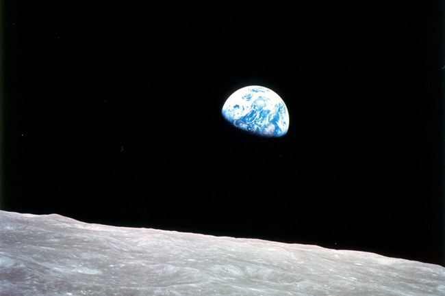 The first photo of the Earth. The picture was taken on December 24, 1968 during the mission Apollo 8