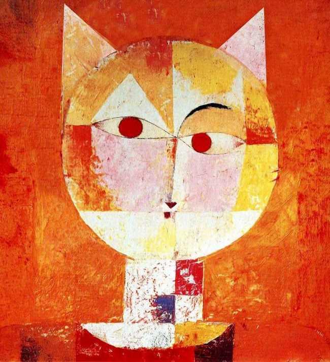 The head of a cat. Original - Paul Klee, Senecio