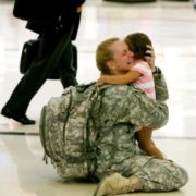 The mother meets with her daughter, after serving in Iraq