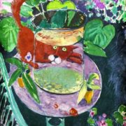 There were red fish here. Original - Henri Matisse, Red Fishes