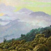 View of the Crimean mountains. Vereshchagin Vasily