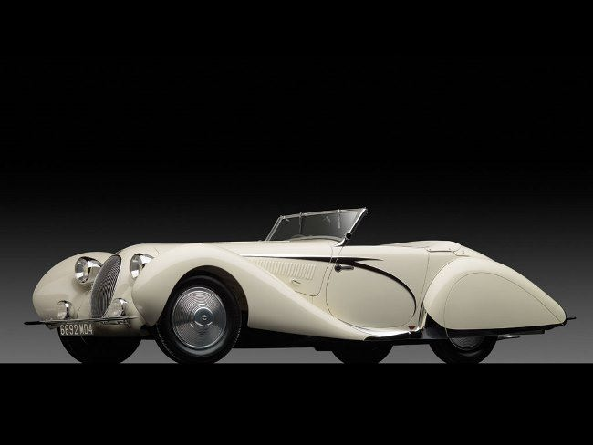 1938 Talbot-Lago T150-C SS Teardrop Cabriolet by Figoni et Falaschi
