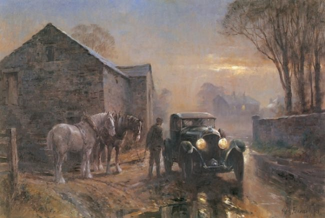 Astonishing Retro cars by Alan Fearnley