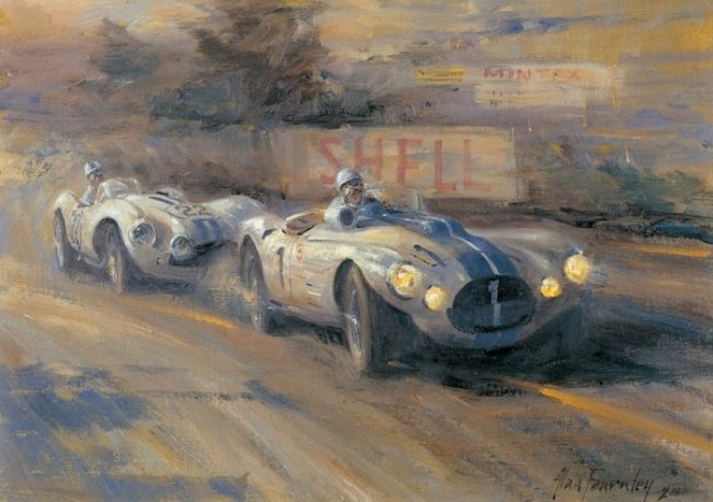 Awesome Retro cars by Alan Fearnley