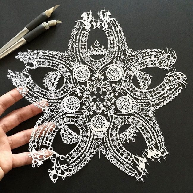Cute lace paper drawings by mr Riu