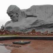 Eternal flame in the Brest Fortress, Belarus