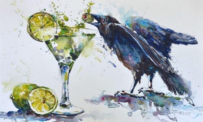 Gorgeous crow