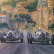 Graceful Retro cars by Alan Fearnley