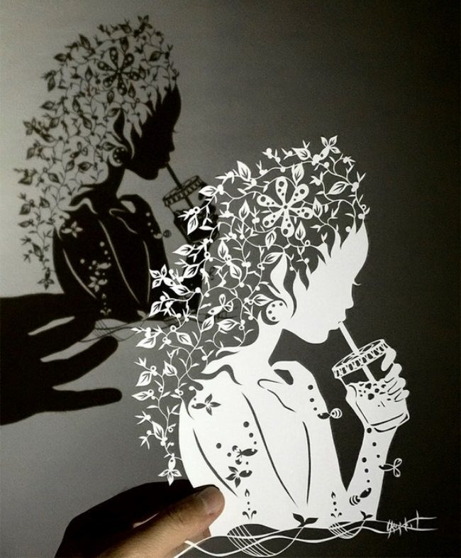 Lace paper drawings by mr Riu