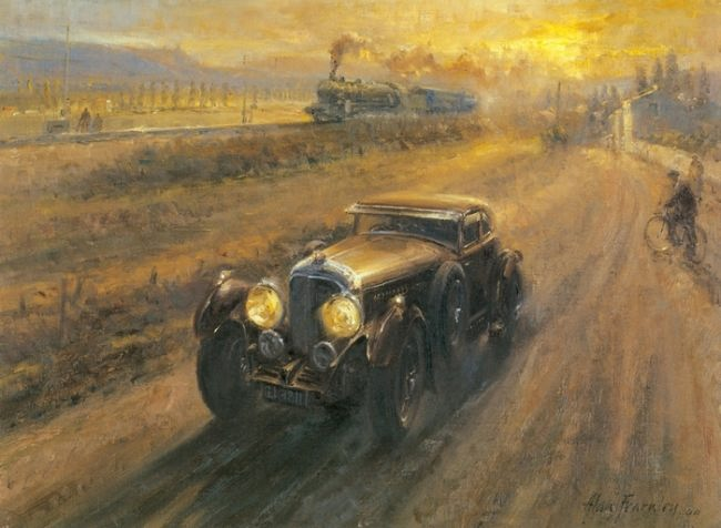 Lovely Retro cars by Alan Fearnley