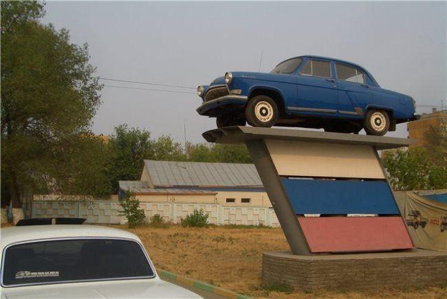 Monument to Volga in Nizhny Novgorod, Russia