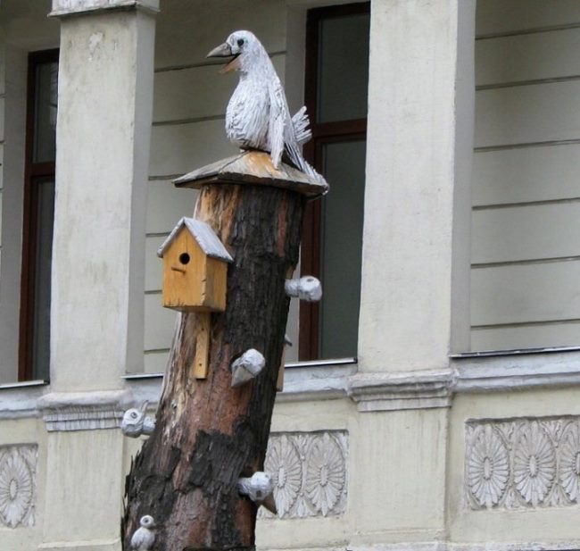 Monument to a crow in Kiev