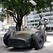 Monument to the racer Juan Manuel Fangio in Buenos Aires, Argentina