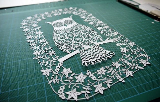 Paper owl by Suzy Taylor