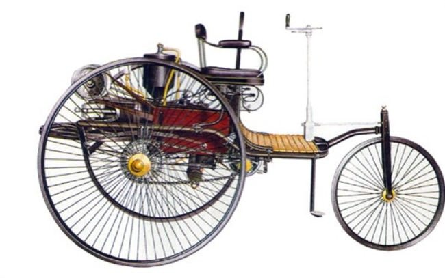 The car under the patent of Benz, 1886, Germany