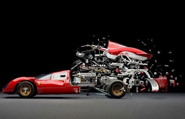 The disintegration of cars by Fabian Oefner
