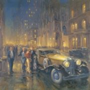 Wonderful Retro cars by Alan Fearnley