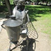 Monument to Fly Tsokotukha in Donetsk