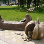Monument to Fly-Tsokotukha in Sochi, Russia