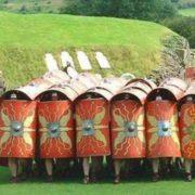 Shields on the battle field