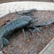 Crayfish Monument in Donetsk, Ukraine