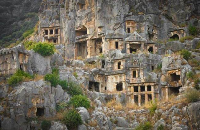 Lycian tombs