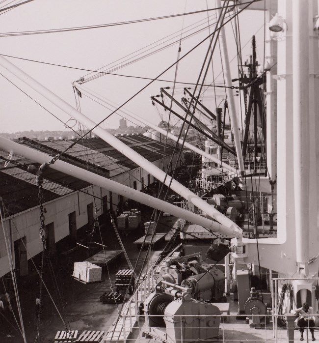 Ships at cargo berth. Gerhard Vetter, 1960