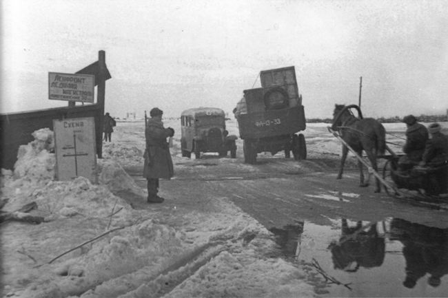 Traffic on the Road of Life in March 1943