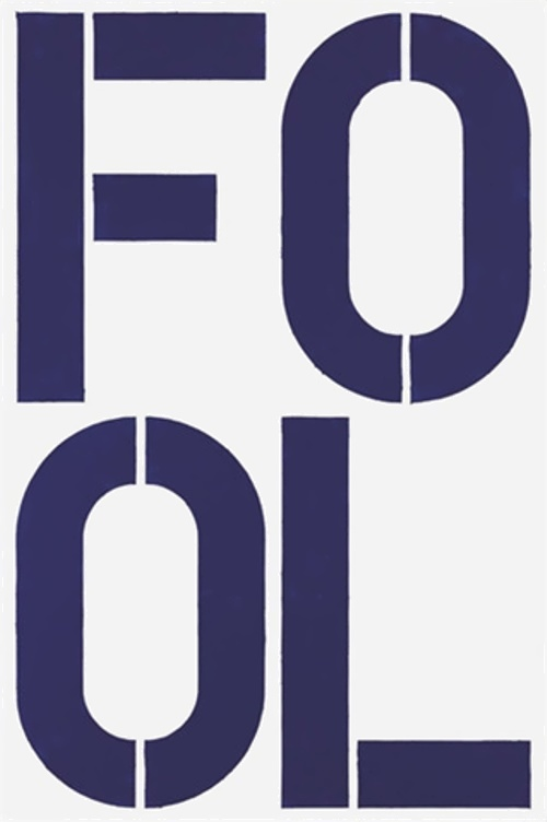 Blue Fool by Christopher Wool