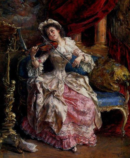 Music Day, Eduardo Leon Garrido, XIX century