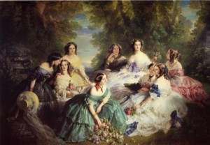 Empress Eugenie Surrounded by the ladies, Franz Xaver Winterhalter, 1855