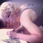 Maude is creating her masterpiece