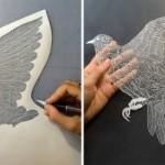 Paper bird by artist M. White