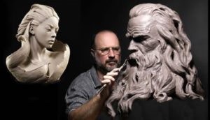 Portrait Sculptures by Philippe Faraut