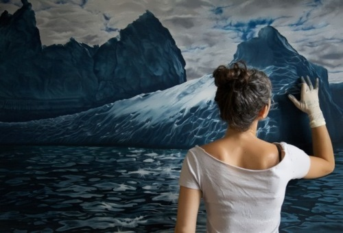 Water and ice by Zaria Forman