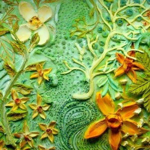 Sculpting with paint by Justin Gaffrey