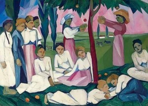 Natalia Goncharova. Picking Apples