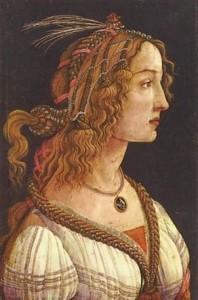 Beautiful woman by Botticelli