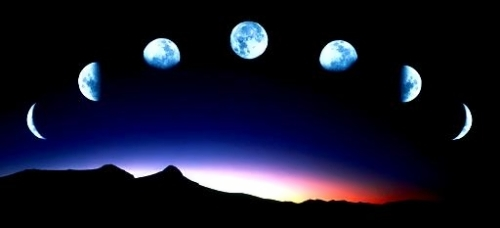 Beautiful and mysterious Moon