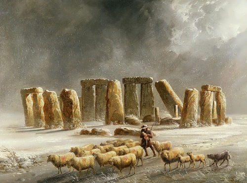 Stonehenge in Winter by Alfred Walter Williams