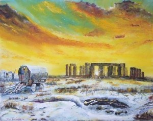 Stonehenge in winter of 47 by Joe Trodden