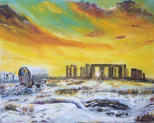 Stonehenge in winter of 47 by Joe Trodden