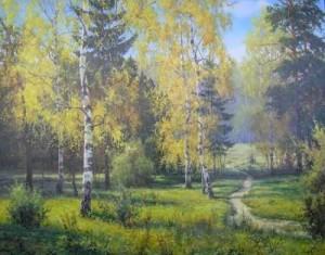 Wonderful forest by Russian painter I. Prischepa